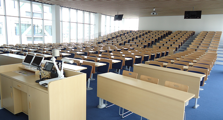 北里大学薬学部 白金キャンパス新2号館(食堂教室棟)
